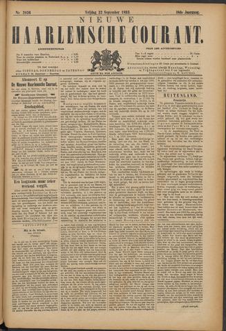 Nieuwe Haarlemsche Courant 1893-09-22
