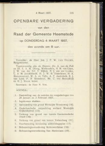 Raadsnotulen Heemstede 1937-03-04