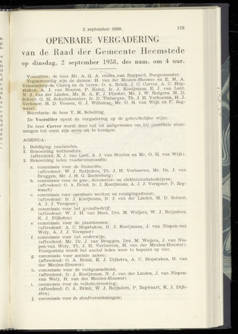 Raadsnotulen Heemstede 1958-09-02