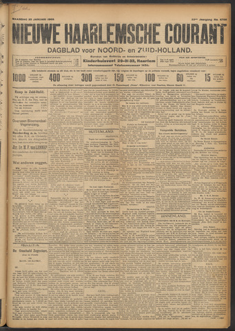 Nieuwe Haarlemsche Courant 1909-01-25