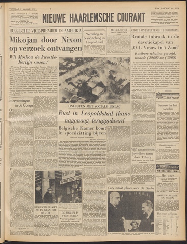 Nieuwe Haarlemsche Courant 1959-01-07