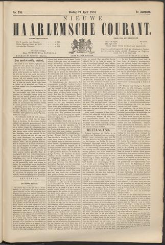 Nieuwe Haarlemsche Courant 1884-04-27