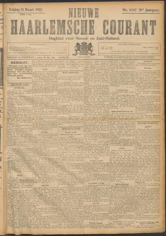 Nieuwe Haarlemsche Courant 1907-03-15