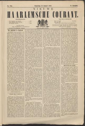 Nieuwe Haarlemsche Courant 1884-01-24