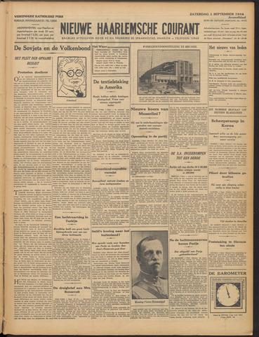 Nieuwe Haarlemsche Courant 1934-09-01