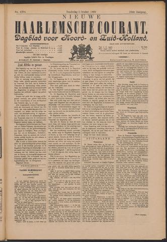 Nieuwe Haarlemsche Courant 1899-10-05