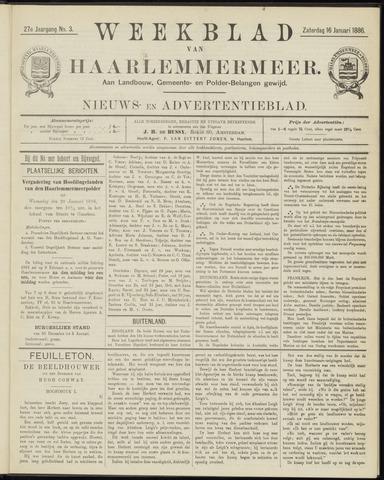 Weekblad van Haarlemmermeer 1886-01-16
