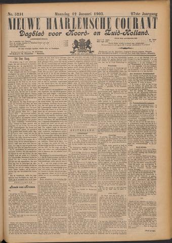 Nieuwe Haarlemsche Courant 1903-01-12