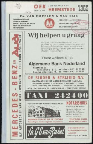 Adresboeken Heemstede 1969