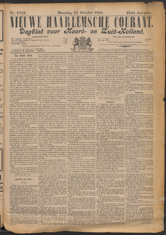 Nieuwe Haarlemsche Courant 1899-10-23