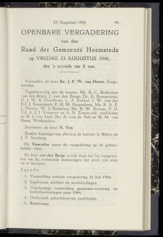 Raadsnotulen Heemstede 1946-08-23