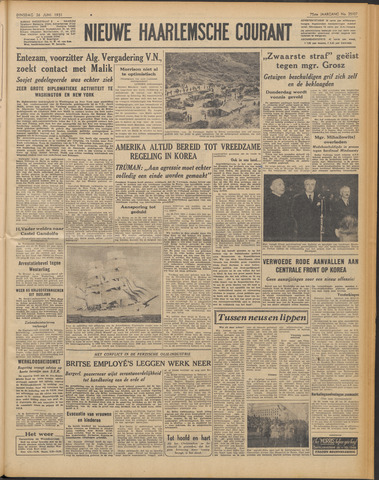 Nieuwe Haarlemsche Courant 1951-06-26