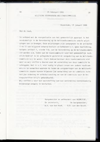 Raadsnotulen Heemstede 1988-02-25
