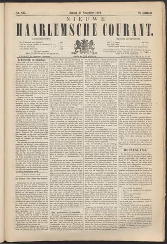 Nieuwe Haarlemsche Courant 1884-09-21