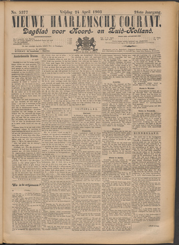 Nieuwe Haarlemsche Courant 1903-04-24