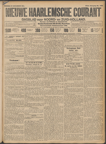 Nieuwe Haarlemsche Courant 1912-11-12