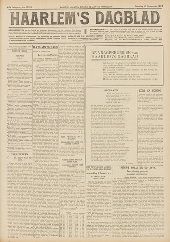 Haarlem's Dagblad 1926-11-16