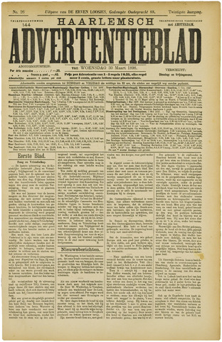 Haarlemsch Advertentieblad 1898-03-30