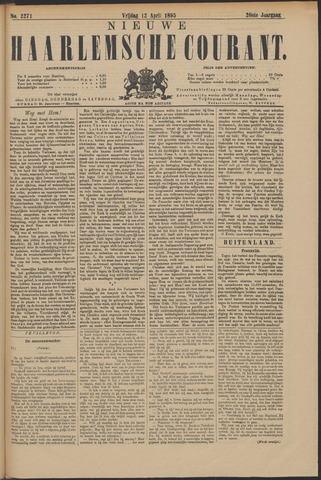 Nieuwe Haarlemsche Courant 1895-04-12