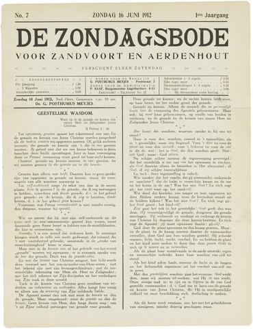 De Zondagsbode voor Zandvoort en Aerdenhout 1912-06-16