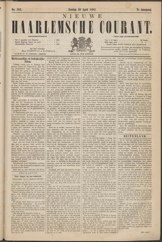 Nieuwe Haarlemsche Courant 1882-04-30
