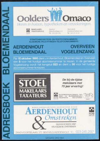 Adresboeken Bloemendaal 1994