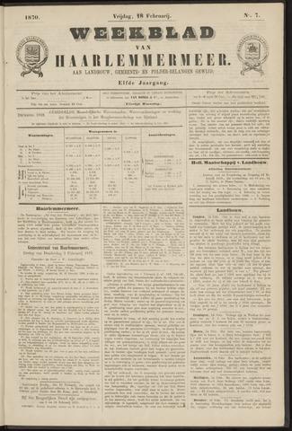 Weekblad van Haarlemmermeer 1870-02-18