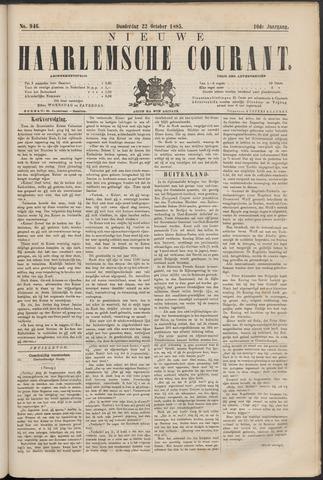 Nieuwe Haarlemsche Courant 1885-10-22