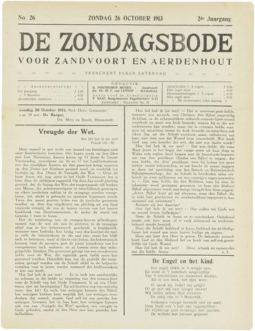 De Zondagsbode voor Zandvoort en Aerdenhout 1913-10-26