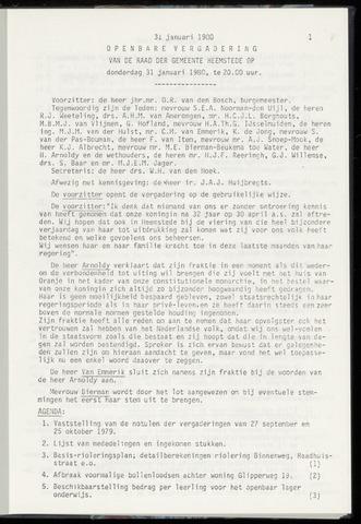 Raadsnotulen Heemstede 1980-01-31