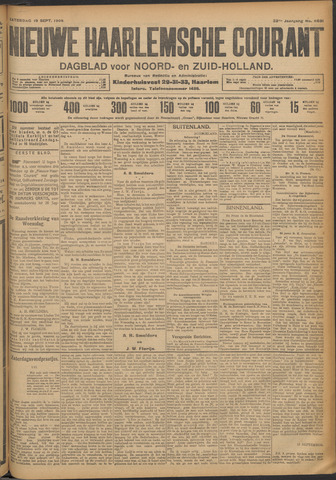 Nieuwe Haarlemsche Courant 1908-09-19