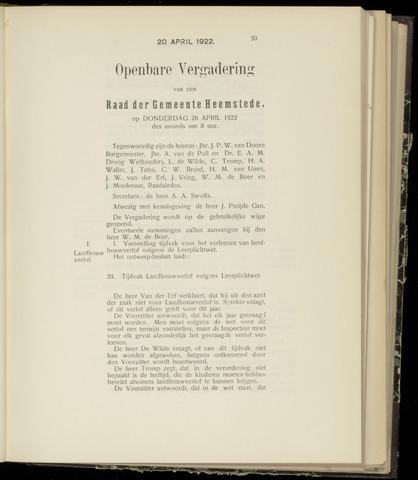 Raadsnotulen Heemstede 1922-04-20