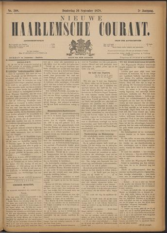 Nieuwe Haarlemsche Courant 1878-09-26