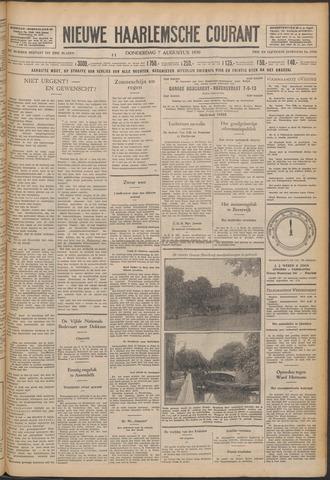 Nieuwe Haarlemsche Courant 1930-08-07