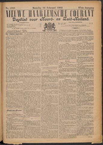 Nieuwe Haarlemsche Courant 1903-02-16