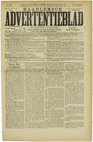 Haarlemsch Advertentieblad 1888-11-07