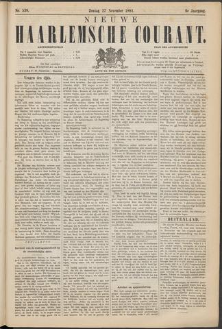 Nieuwe Haarlemsche Courant 1881-11-27