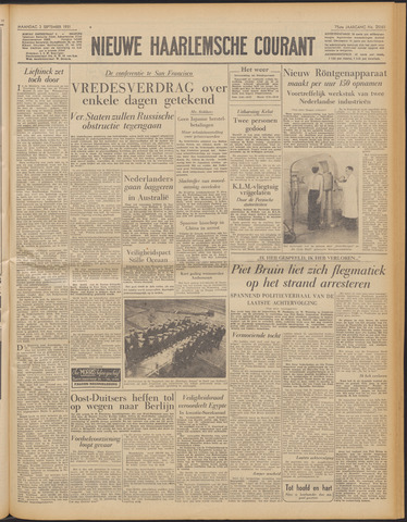Nieuwe Haarlemsche Courant 1951-09-03