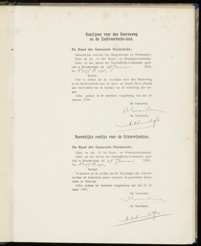 Raadsnotulen Heemstede 1909-01-28