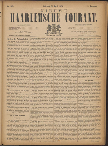 Nieuwe Haarlemsche Courant 1878-04-20