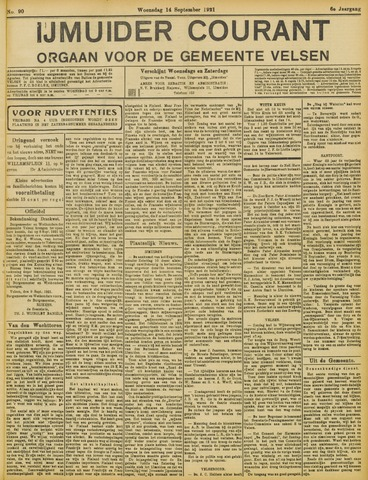IJmuider Courant 1921-09-14