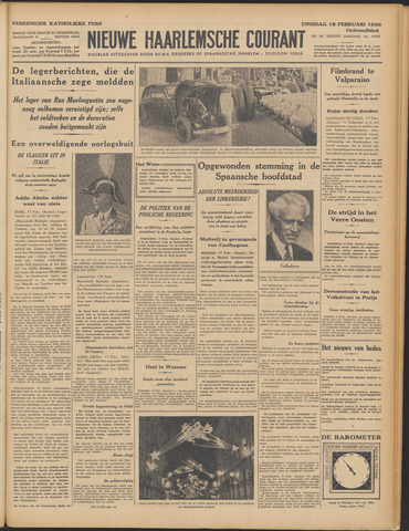 Nieuwe Haarlemsche Courant 1936-02-18