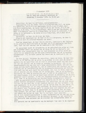 Raadsnotulen Heemstede 1978-11-09