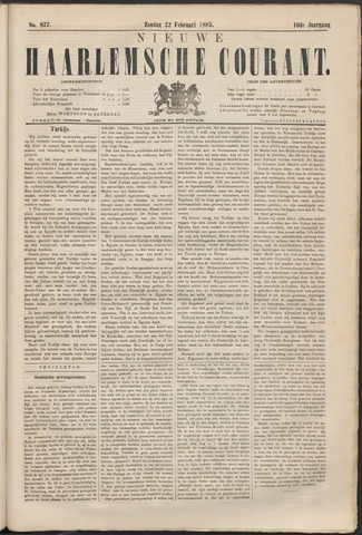 Nieuwe Haarlemsche Courant 1885-02-22