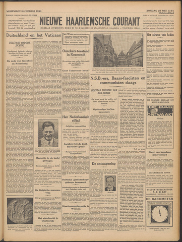 Nieuwe Haarlemsche Courant 1934-05-27