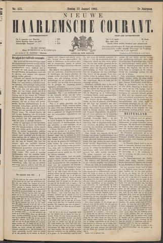 Nieuwe Haarlemsche Courant 1882-01-22