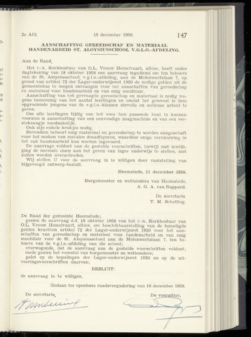 Raadsnotulen Heemstede 1958-12-18