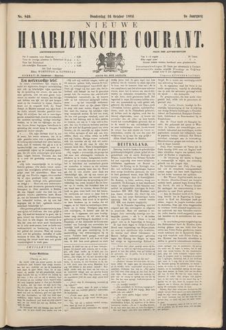 Nieuwe Haarlemsche Courant 1884-10-16