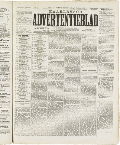 Haarlemsch Advertentieblad 1882-09-16