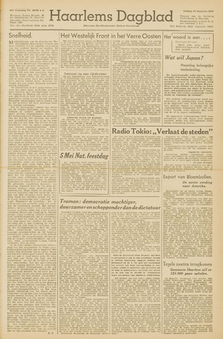 Haarlem's Dagblad 1945-08-10